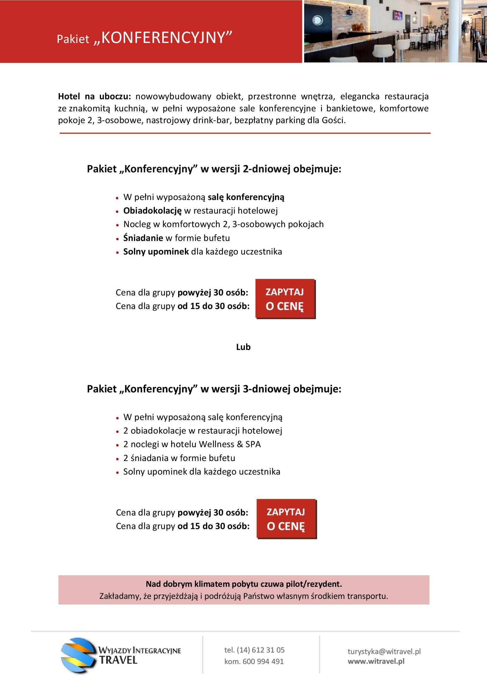 Oferta WI Travel - Pakiet Konferencyjny